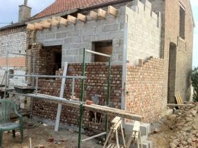 Mur : parement en briques