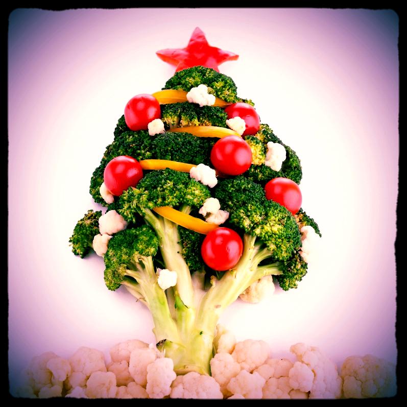 Arbre de Noel en légumes