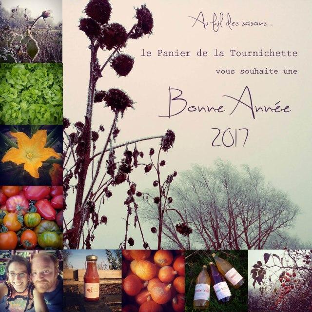 Au fil des saisons, le panier de la tournichette vous souhaite une bonne année 2017 !
