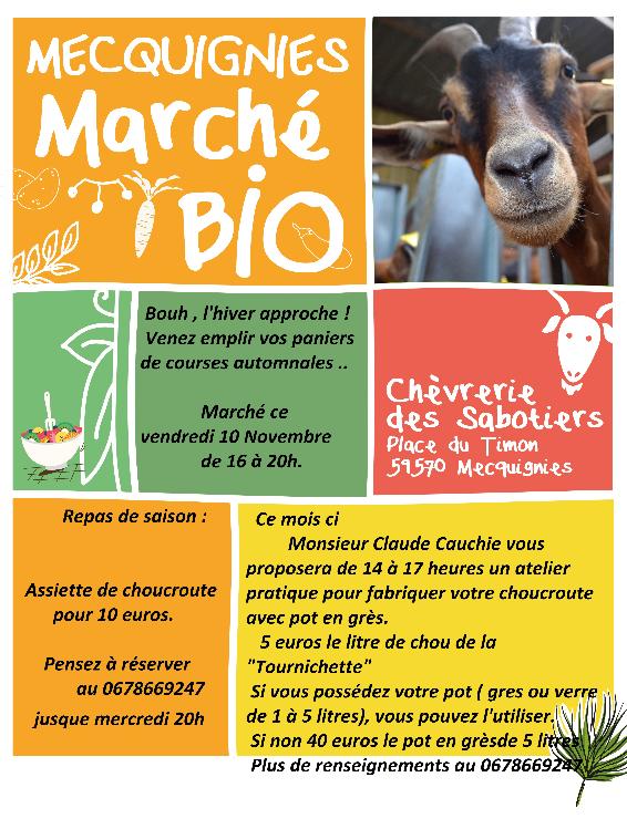 affiche marché Mecquignies 10 novembre